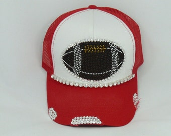 Ultimate football bling hat (you can choose your custom color)