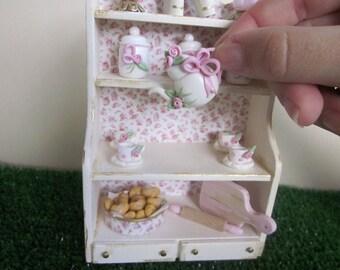 Dollhouse Shabby Teaset Cabinet