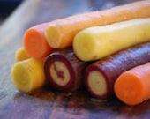 Heirloom, Rainbow Blend Carrot, 25 Seeds, Grown Organically, Cheap