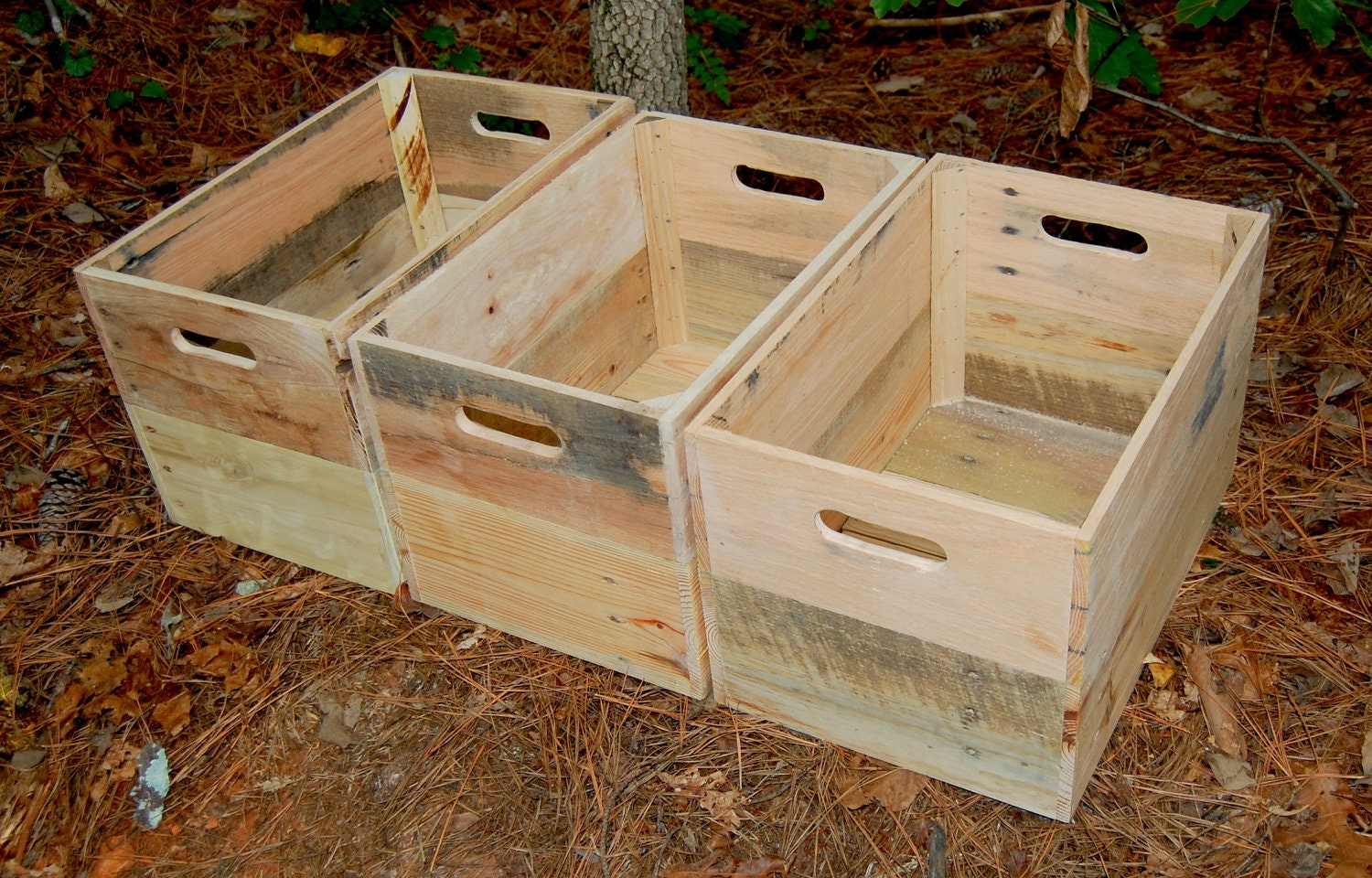 unfinished wood crate