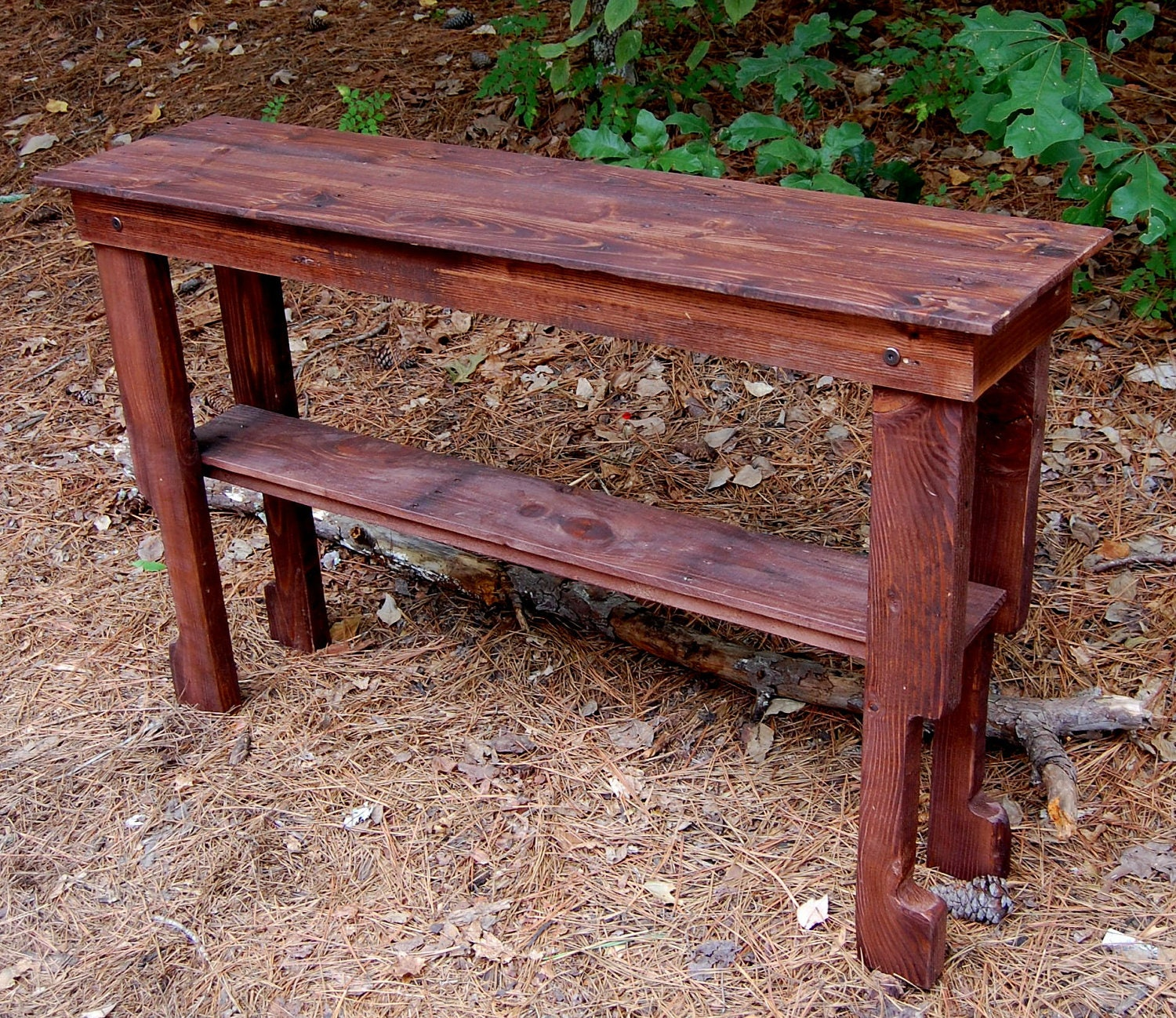Build Sofa Table: Entry/Sofa/Hall Table From Reclaimed Wood By