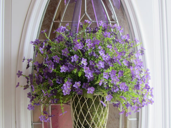 Summer Wreath - Door Wreath - Country Wreath - Boxwood Wreath - Wreath