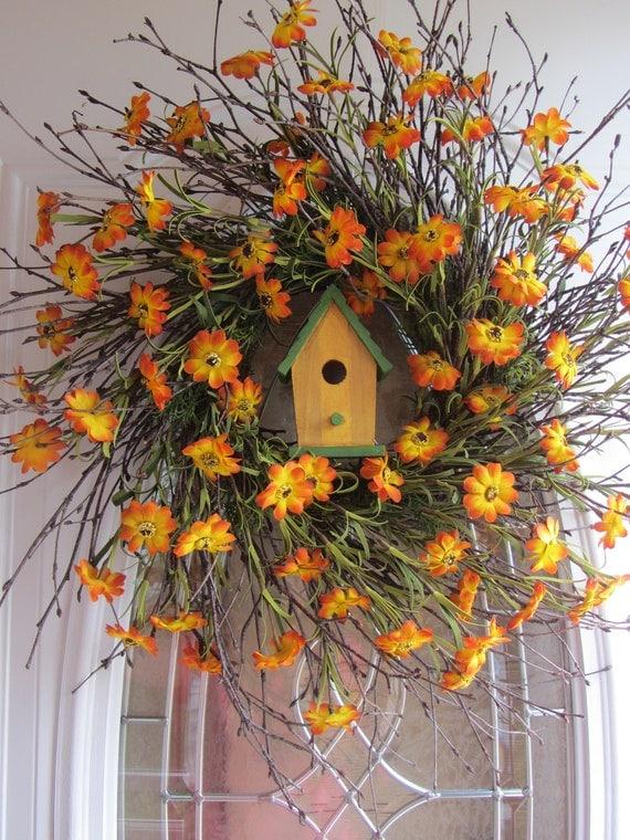 Spring Wreath, Country Wreath,  Summer Wreath,  Sunflower Wreath,  Wreath
