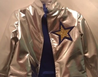 Rockstar Jacket with front silver snaps closure Fully Lined -Wear to Fresh Beat Band Concert
