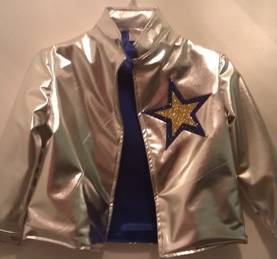 FULLY LINED Rock star Jacket with front silver snaps closure
