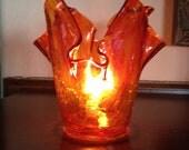 Autumn Orange Olive Oil Lamp