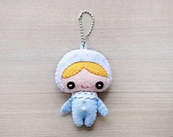 Felt Keychain -  Valentine Gift -  cute keychain -  Kawaii keychain - stocking stuffer - READY TO SHIP