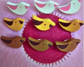 50pcs  Cute Cute Mixed Cartoon Owl, Strawberry, Bee , birds, Bunny Wood Button  -DIY SCRAPBOOKING SUPPLY
