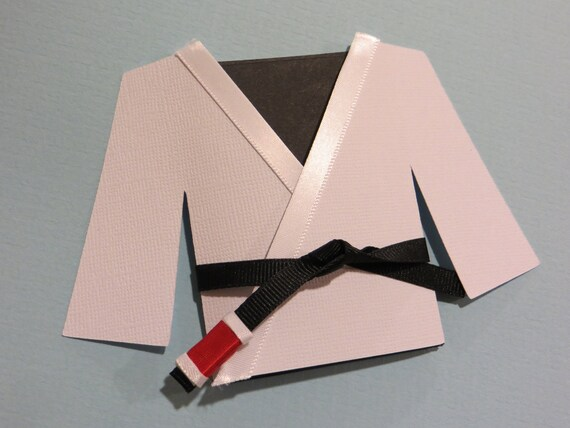jiu jitsu martial arts gi blank card