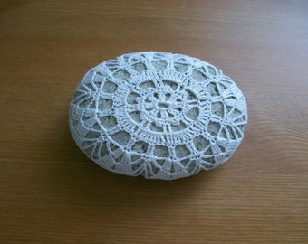 Crochet covered sea stone no:6 handmade by Arzu