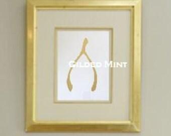 Art Print Framed 24K Gold Stylish Wishbone Print Original Painting