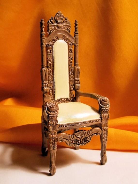 Dollhouse Gothic Chair Medieval Chair Doll House Ornate