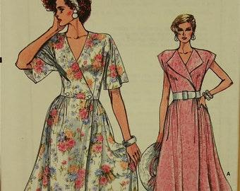 """1980s Summer Wrap Dress Vogue Pattern 9282 Uncut   Sizes 6-8-10  Bust 30.5-31.5-32.5"""""""