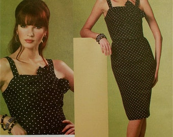 "2010s Designer Dress by Michael Kors Vogue American Designer Pattern 1176  Uncut   Size 16-18-20-22  Bust 38 to 44"""