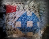 Vintage cutter quilt pillow americana for your primitive home