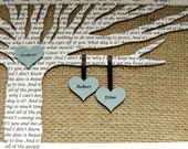 Unique Anniversary Gift, Wedding Gift, Paper and 1st Anniversary Gift - Song Lyrics Tree - 8x10 Frame Optional