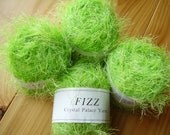 Fizz by Crystal Palace Yarns: Eyelash Novelty Yarn Color 9224 Varigated Lime Green