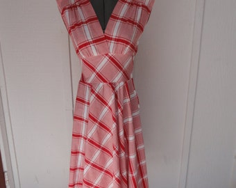 Jodi Of California Red and White Checkered Dress
