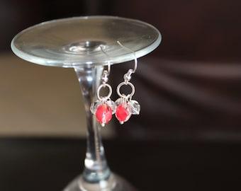 Czech 2 Tone Crystal Earrings