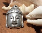 Sleeping Buddha  charm pendant sterling silver plated