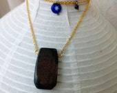 Sign of Violet ----- Natural Purple Agate Gold- Filled Chain Necklace