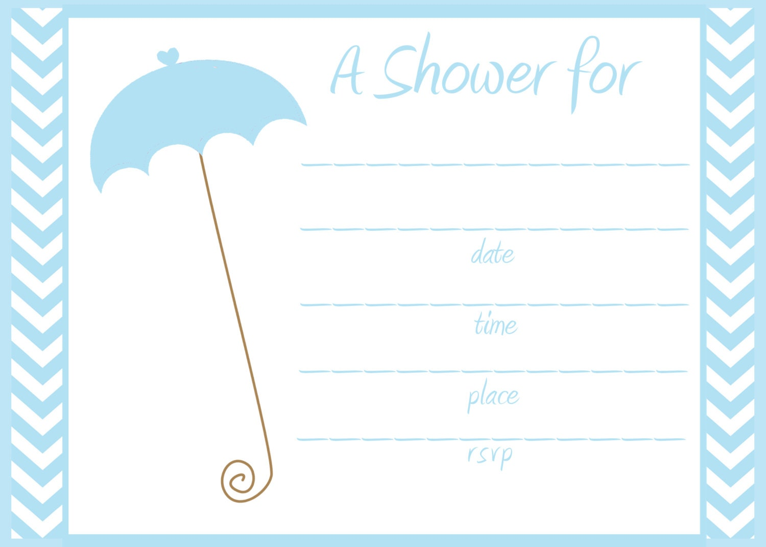 fill in baby shower invitation