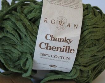 Rowan Chunky Chenille yarn in sage green