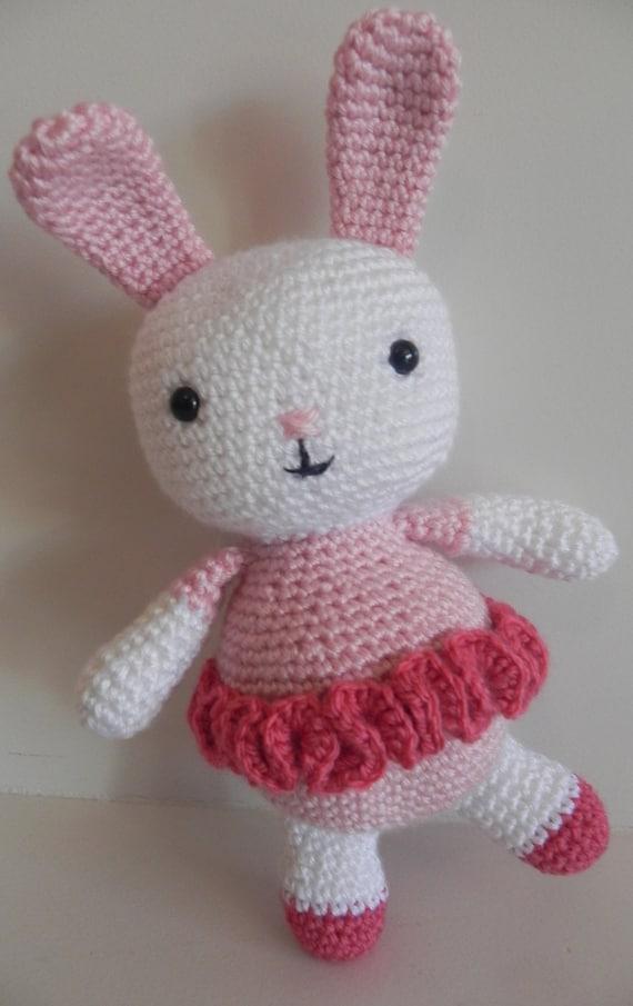 Etsy Amigurumi Bunny : Items similar to Amigurumi Bunny/Ballerina Bunny Rabbit ...