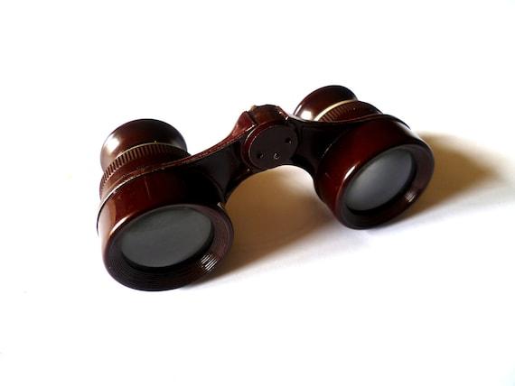 Vintage Brown Binoculars Pocket Size