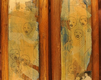 """Collage Diptych - """"Unfond Memories"""""""