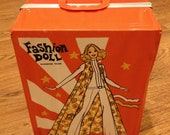 """Vintage """"Fashion Doll"""" Wardrobe Trunk"""