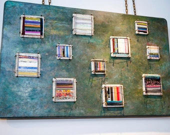 Chained Masterpiece: Large Mixed Media Wall Collage