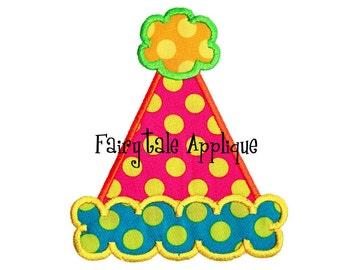 Digital Machine Embroidery Design -  Birthday Party Hat Applique