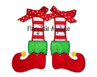Digital Machine Embroidery Design -  Christmas Elf Shoes Applique