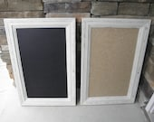 Distressed Framed Cork, Chalk, or Dry Erase Boards.