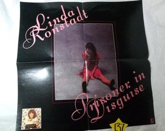 "1975 Warner Bros.Linda Ronstadt-""Prisoner in Disguise"" Record store promo poster"