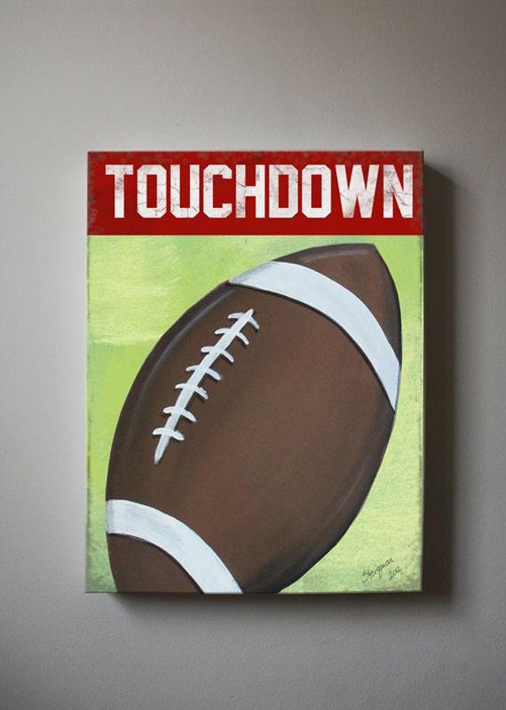 Football Canvas Wall Art Sports Nursery Art Baby Boys Room | Etsy