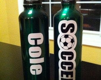 Personalized Water Bottle Soccer