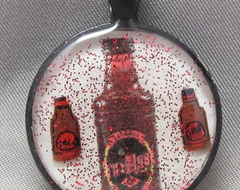 True Blood Inspired 3D Resin Pendant Featuring Handmade Tru Blood bottle Components