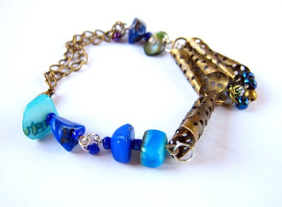 Bracelet, Nacre, howlit, pearl, chain RESERVATION