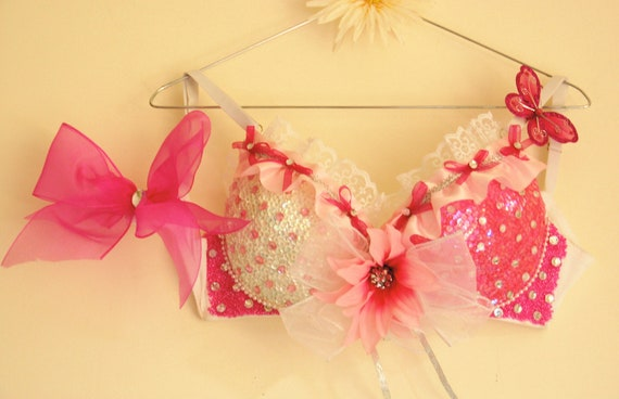 Strawberries and Cream Rave Bra