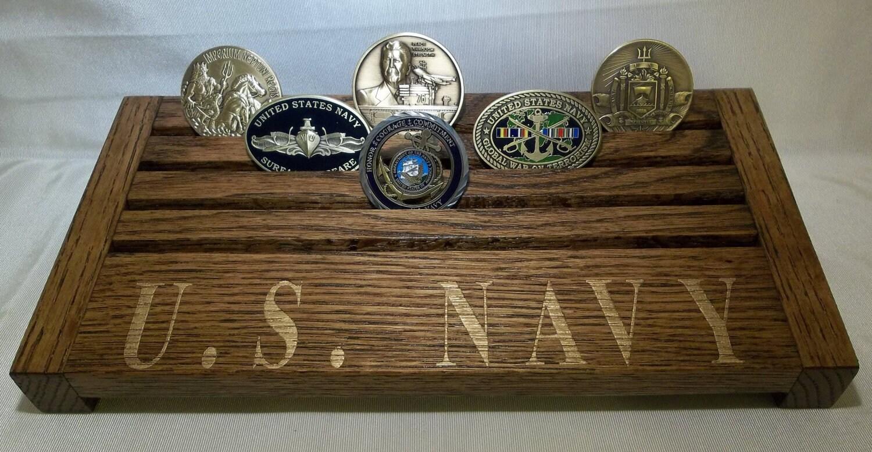 U S Navy Challenge Coin Display Holder Solid