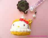 Hello Kitty iphone5 dust plug , kawaii kitty earphone cap , japanese decoden , ipad accessories