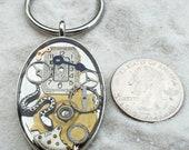 Jewelry accessory by JoJo:  Snake Keychain, Resin-filled , Steampunk Keychain(One Keychain)