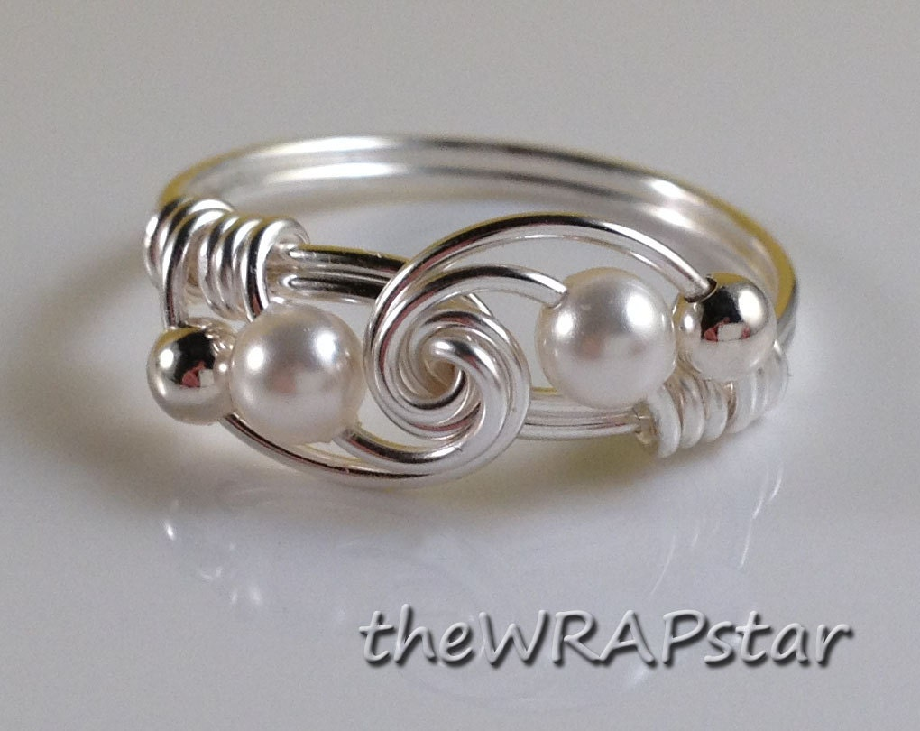 bridesmaid ring wire wrapped jewelry handmade by