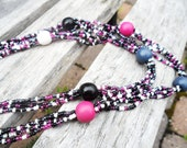 Handmade beaded necklace, wear it doubled or even tripled as you want