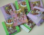 Assortment of 6 Japanese Anime Cartoon Girls Matchbook Notepads