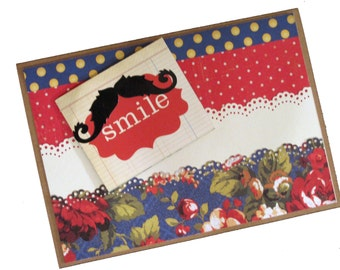 All Occasion Handmade Greeting Card Smile