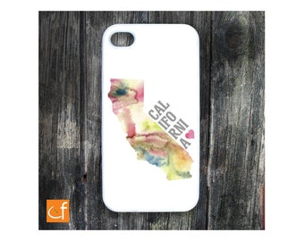 California Love iPhone 4, 4s, 5, 5C or Samsung Galaxy S3, S4 Case.