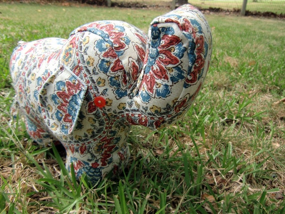 Penelope the Artichoke-Patterned Elephant